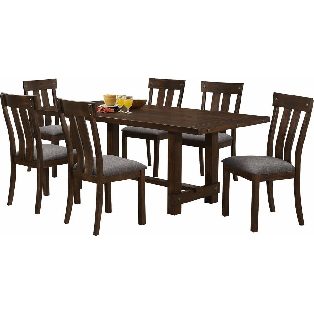 Amazon – Ncf Fairbanks Rustic Modern Standard Table In Regarding Latest Small Dining Tables With Rustic Pine Ash Brown Finish (View 2 of 30)