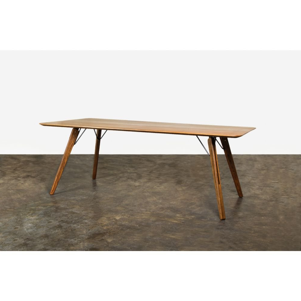 Amazon – Nuevo Theo Dining Table – Tables Within Widely Used Fumed Oak Dining Tables (View 6 of 30)