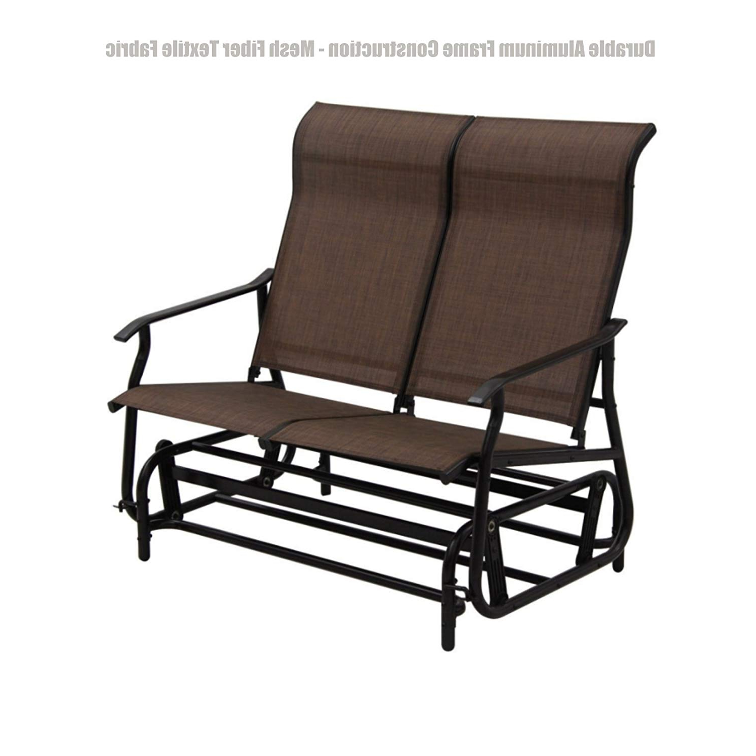 Amazon: Patio Furniture Outdoor Indoor Glider Bench Throughout Fashionable Outdoor Fabric Glider Benches (View 15 of 30)