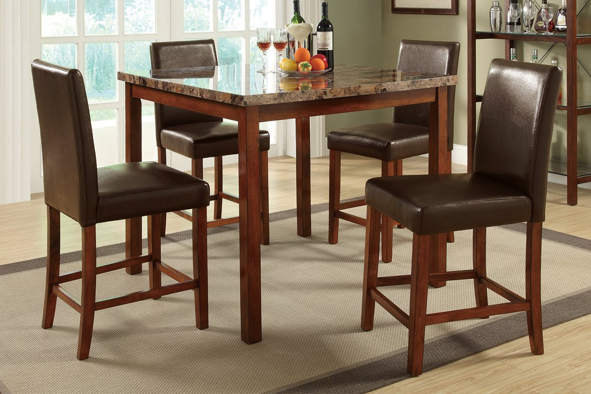 Amazon – Poundex Pdex F2542 Dining Tables Multi – Table With Regard To Most Current Transitional 4 Seating Square Casual Dining Tables (View 4 of 30)