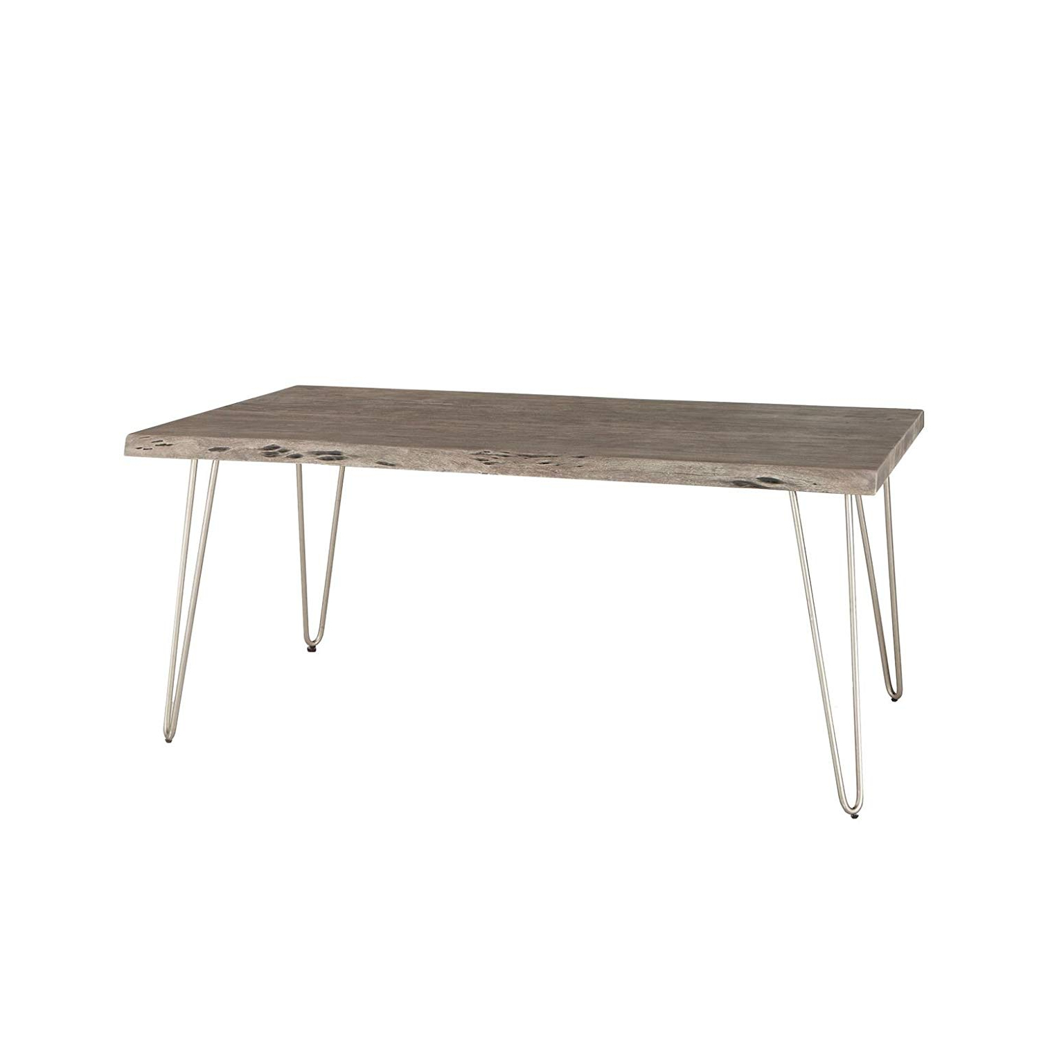 Amazon – World Interiors Zwgan6838wg Weathered Grey Within Newest Acacia Top Dining Tables With Metal Legs (View 18 of 30)