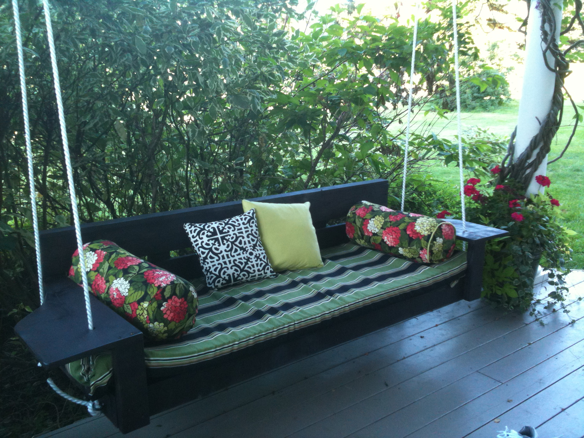Ana White Inside Most Recently Released Hanging Daybed Rope Porch Swings (View 7 of 30)