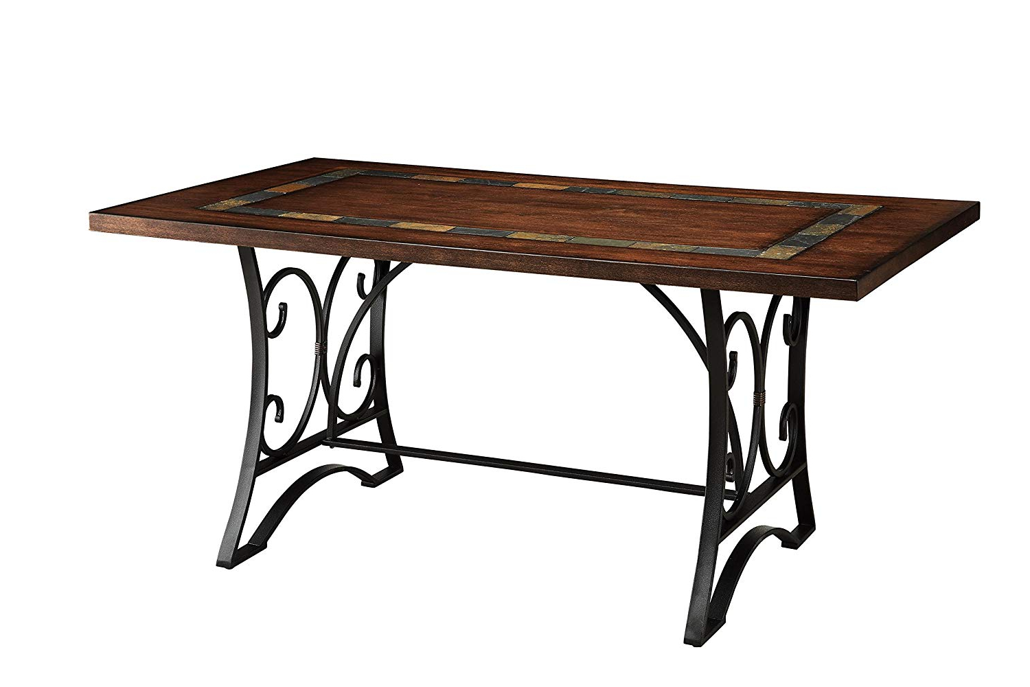 Antique Black Wood Kitchen Dining Tables For Famous Acme Hakesa Cherry And Antique Black Dining Table (View 16 of 30)
