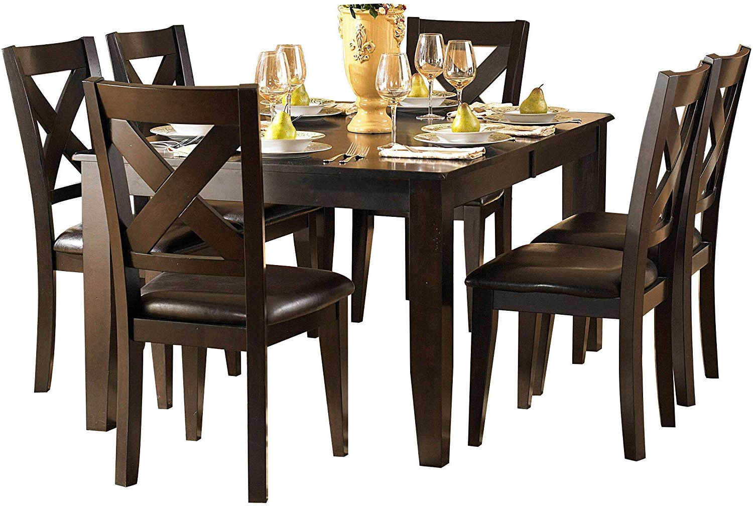 Artefac Contemporary Casual Dining Tables With Most Recent Amazon – Creekmore Casual Modern 8pc Dining Set Table, (View 2 of 30)