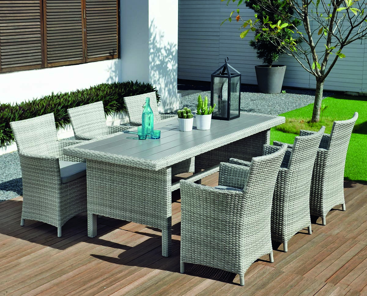 Aruba 6 Seat Set Pertaining To 2017 Contemporary 6 Seating Rectangular Dining Tables (View 28 of 30)