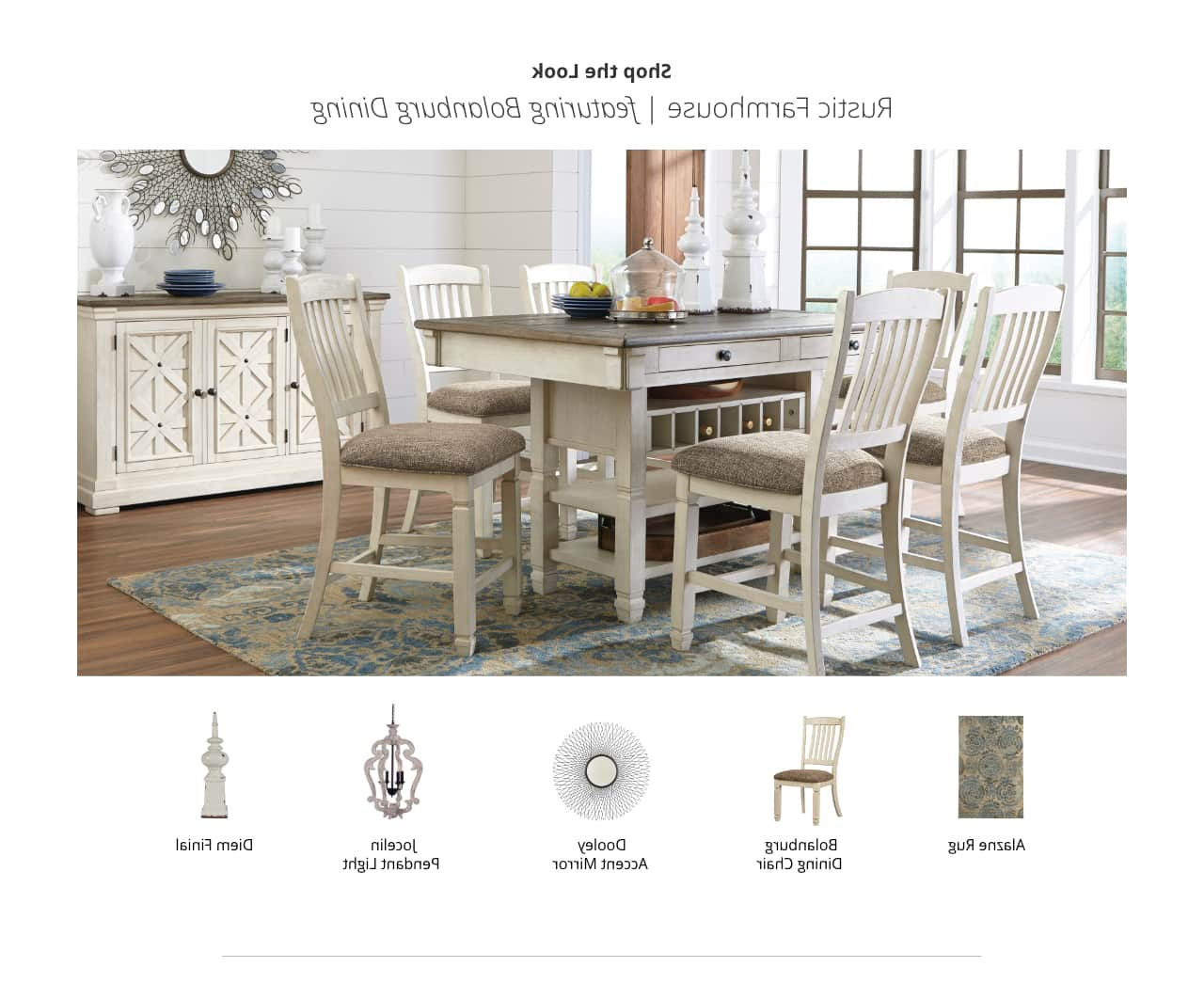 Ashley Furniture Homestore For Rustic Country 8 Seating Casual Dining Tables (View 12 of 30)