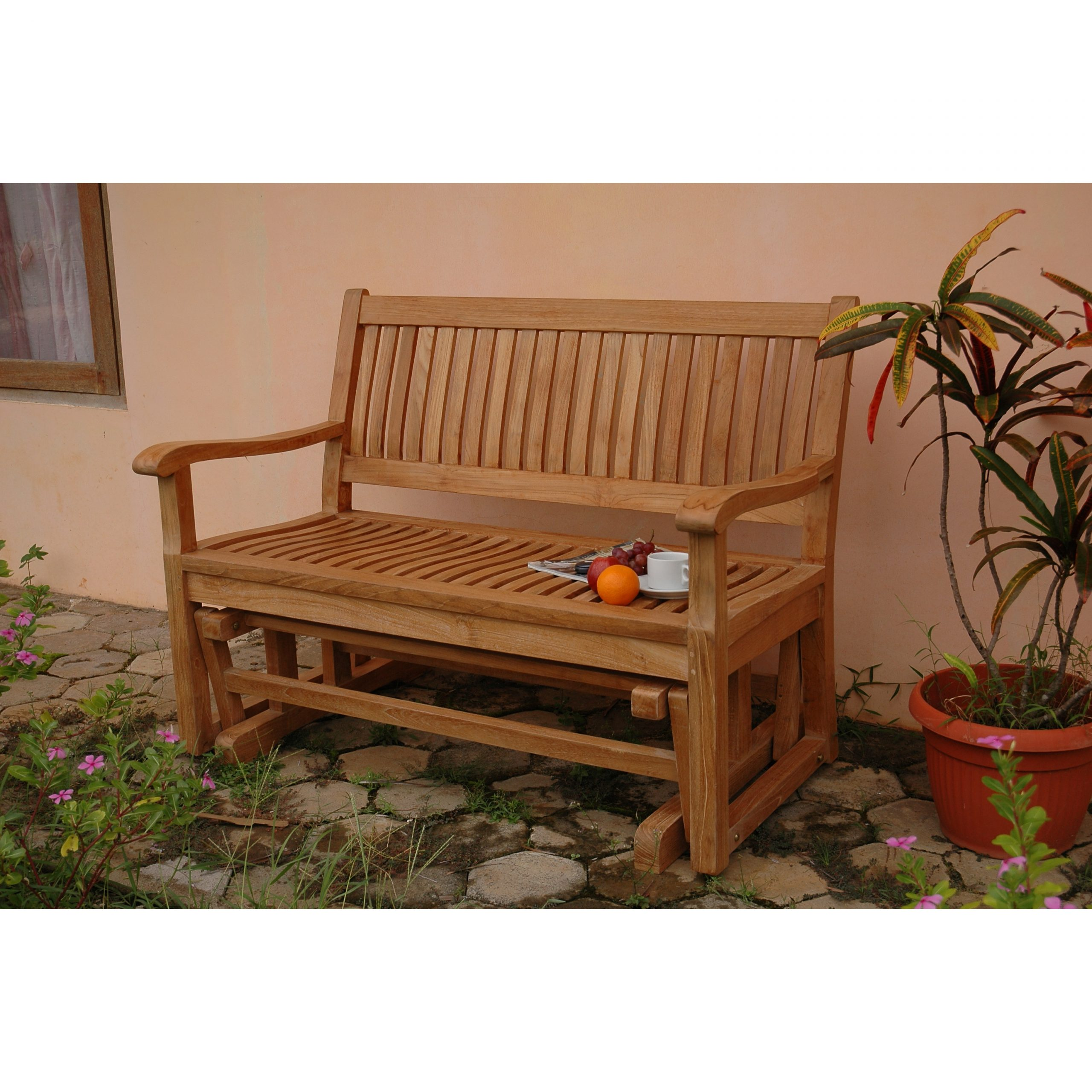 Attractive Outdoor Teak Furniture Minimal Style That Are In Fashionable Teak Glider Benches (View 1 of 30)
