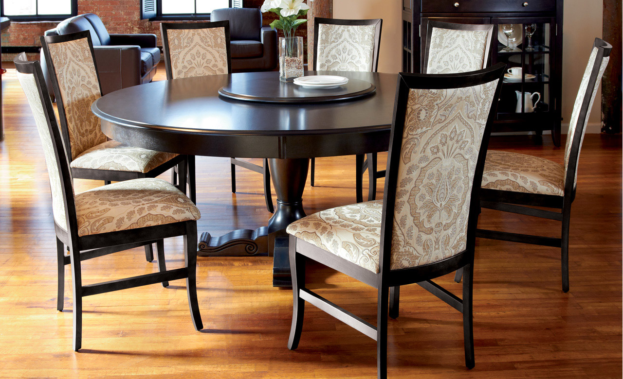 Awesome Large Round Dining Table Seat 8 Room Outstanding Regarding Favorite Elegance Large Round Dining Tables (View 7 of 30)