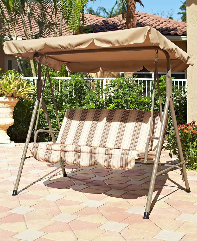 Backyard Garden Patio Deck Landscaping And 50 Similar Items With Regard To Favorite 2 Person Adjustable Tilt Canopy Patio Loveseat Porch Swings (Gallery 16 of 30)