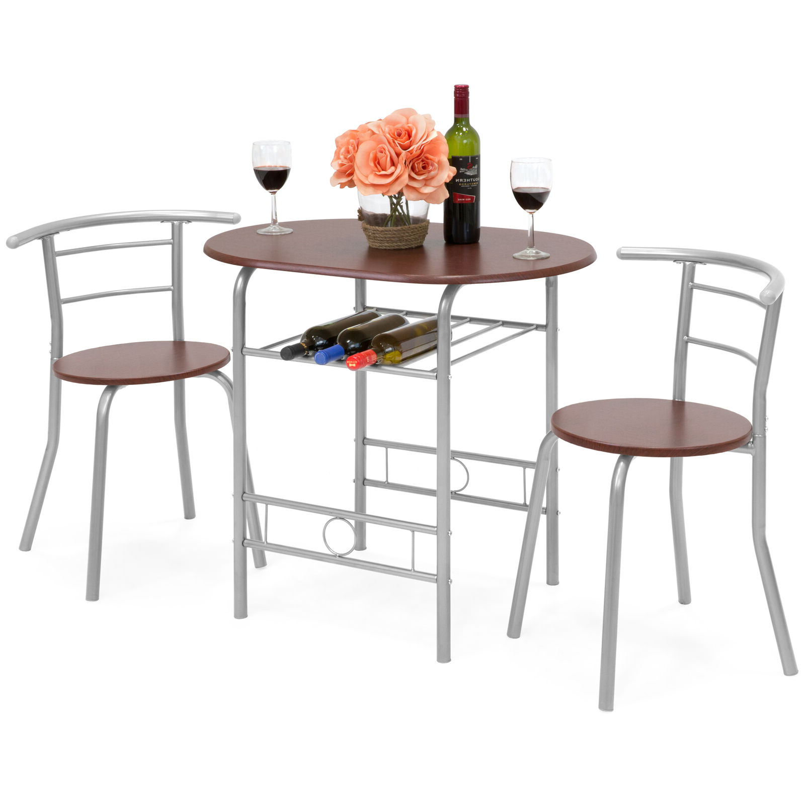 Bcp 3 Piece Wooden Dining Table Set W/ 2 Chairs, 1 Table (View 12 of 30)