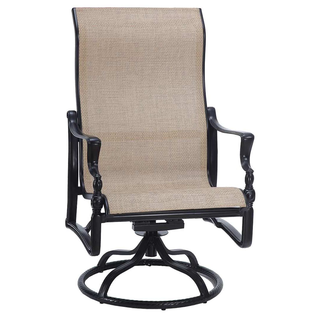 Bel Air Sling High Back Swivel Rocker Lounge Chair Pertaining To Best And Newest Sling High Back Swivel Chairs (Gallery 15 of 30)