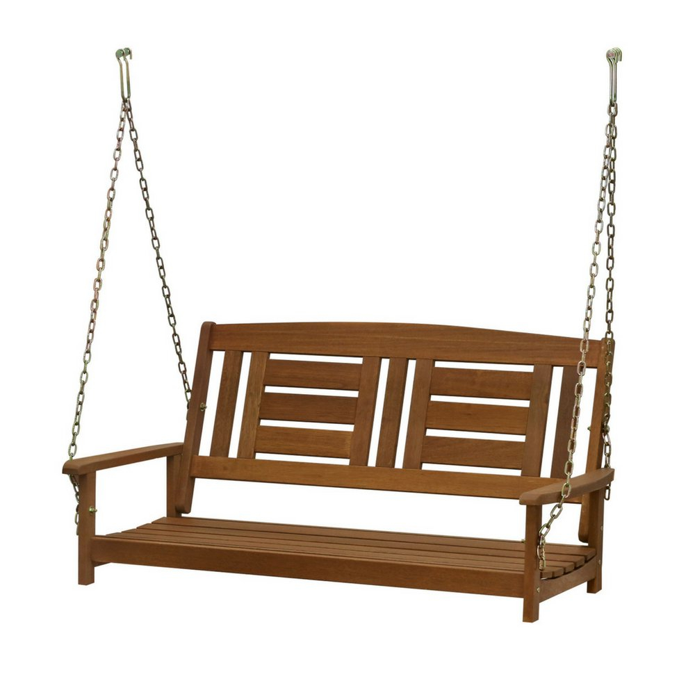 Best And Newest 3 Person Light Teak Oil Wood Outdoor Swings Inside Amazon : Bs Outdoor Porch Swing Deck Furniture High Back (Gallery 8 of 30)