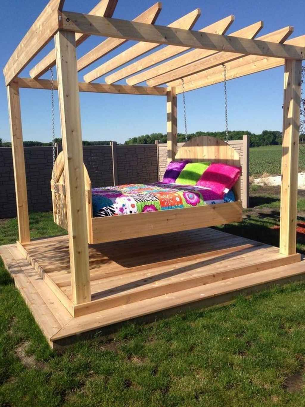 Best And Newest 70 Awesome Farmhouse Porch Swing Plans Ideas (Gallery 4 of 30)