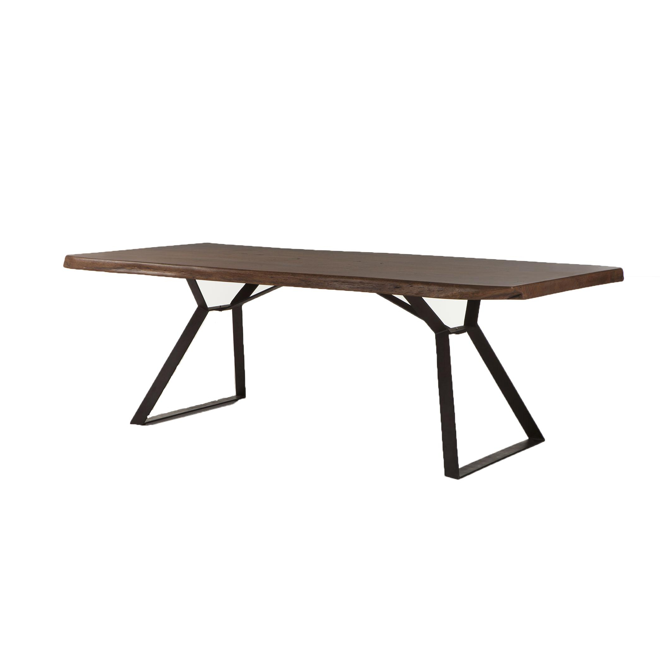 "Best And Newest Acacia Top Dining Tables With Metal Legs Throughout Home Trends &design London Loft Collection Casual 80"" Wood (View 17 of 30)"