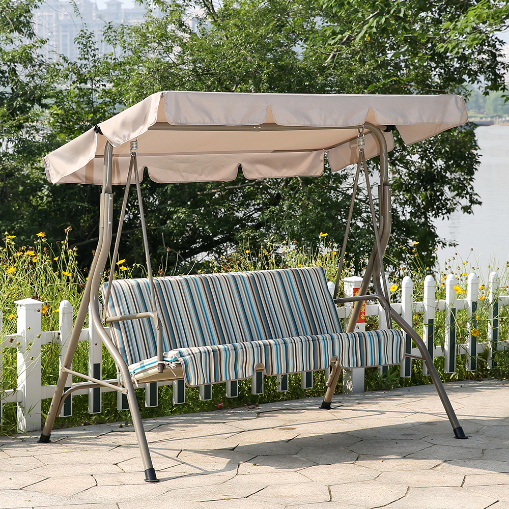 Best And Newest Andrea Padded 3 Seater Swing Inside 3 Seat Pergola Swings (View 26 of 30)