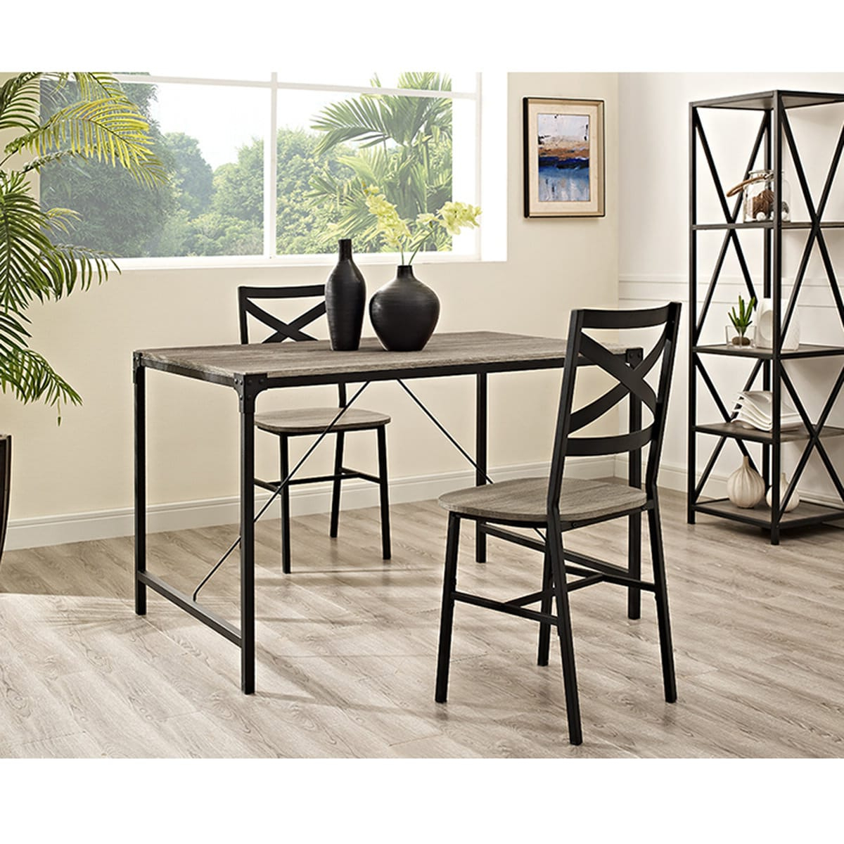 Best And Newest Angle Iron 48 Inch Wood Dining Table – Driftwoodwalker With Transitional Driftwood Casual Dining Tables (View 3 of 30)