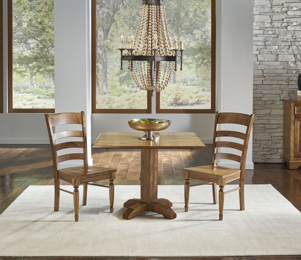 "Best And Newest Bennett Smoky Quartz 42"" Drop Leaf Square Dining Room Set With Regard To Transitional 4 Seating Drop Leaf Casual Dining Tables (View 4 of 30)"