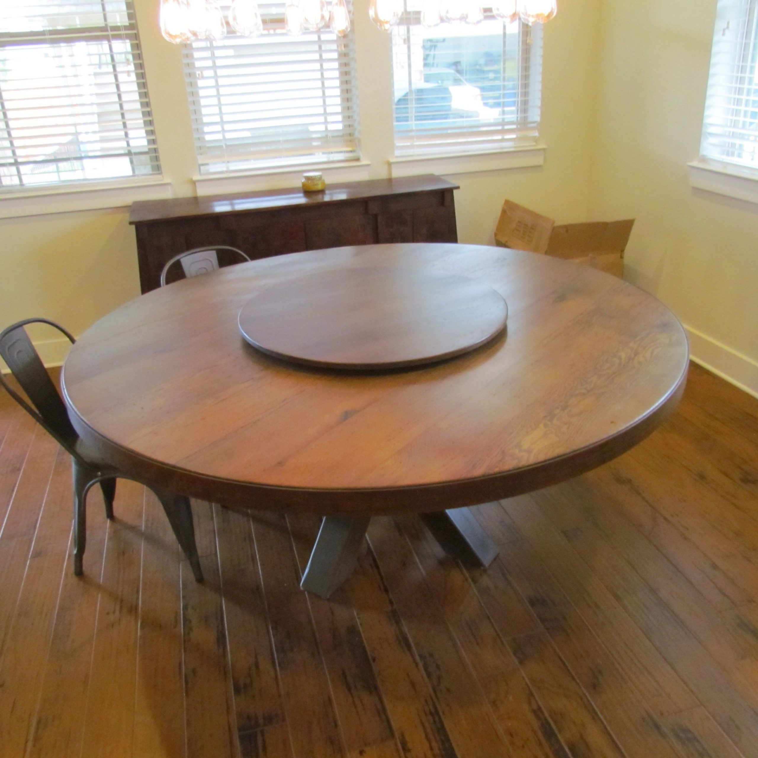 "Best And Newest Buy A Hand Made White Oak 72"" Round Dining Table With Lazy With Solid Wood Circular Dining Tables White (View 5 of 30)"