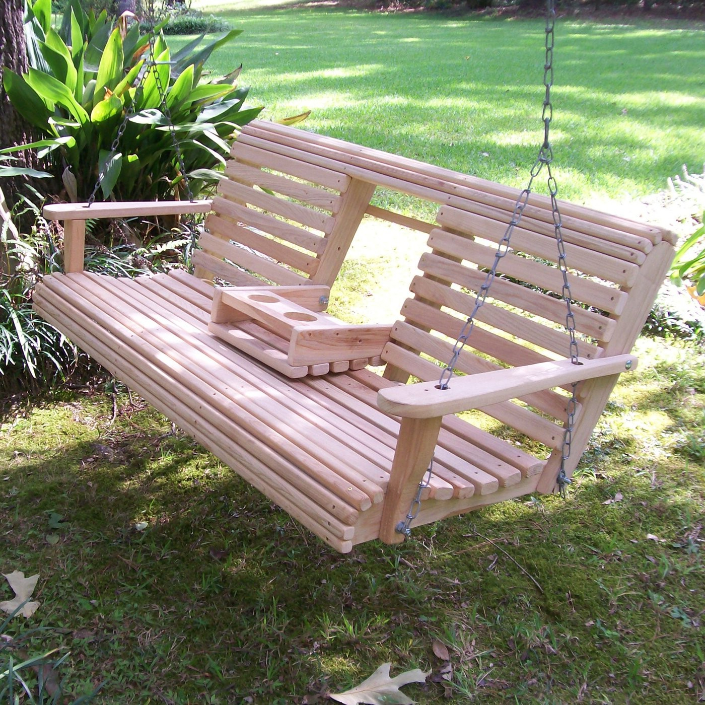 Best And Newest Canopy Patio Porch Swings With Pillows And Cup Holders Inside Beautifully Garden Swings That Everyone Will Like (Photo (Gallery 6 of 30)