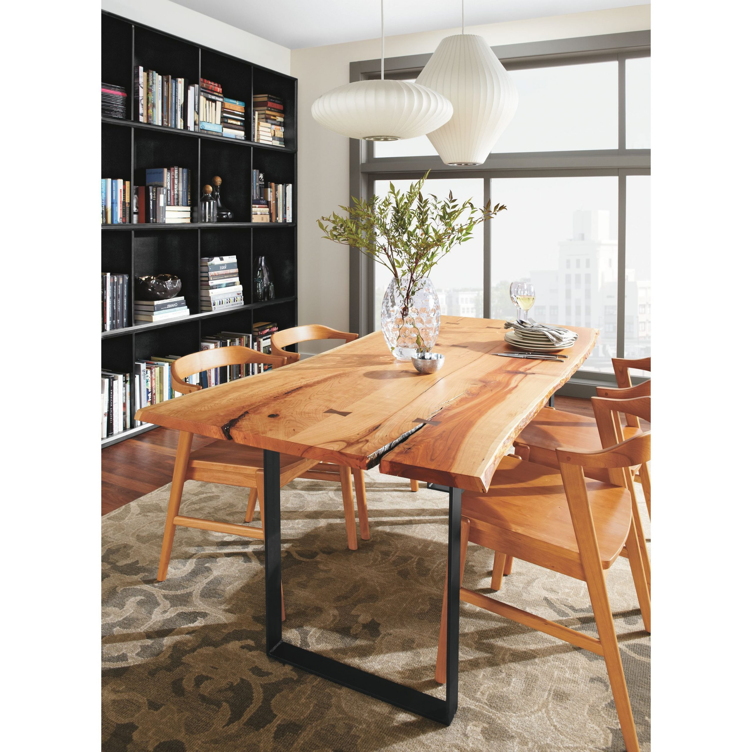 Best And Newest Chilton 84W Table In Cherry – Modern Dining Tables – Modern With Rustic Mid Century Modern 6 Seating Dining Tables In White And Natural Wood (Gallery 17 of 30)
