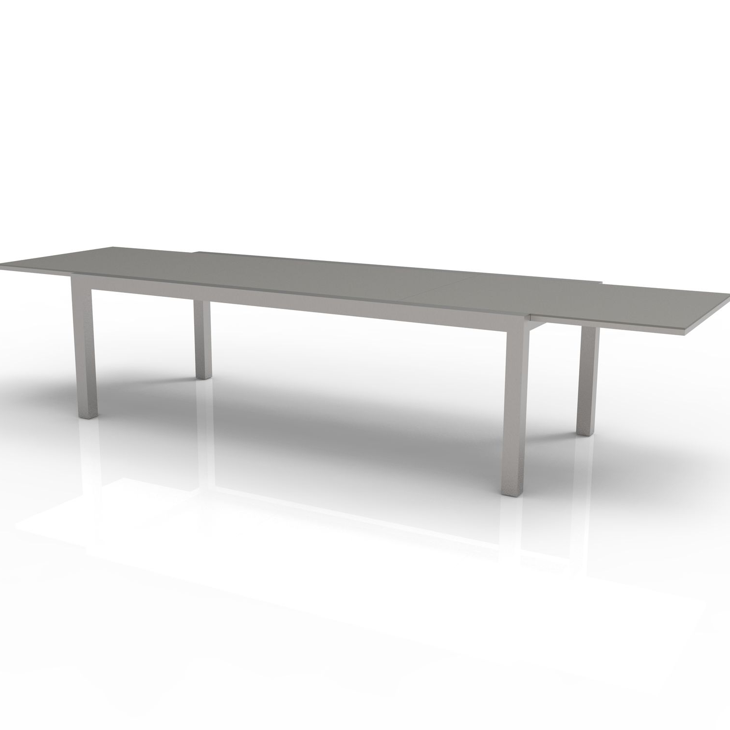Best And Newest Contemporary Dining Table / Glass / Stainless Steel Pertaining To Steel And Glass Rectangle Dining Tables (Gallery 17 of 30)