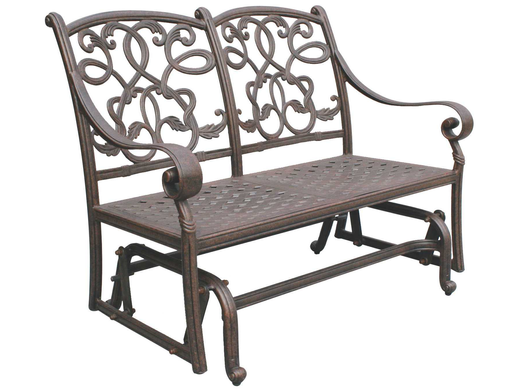 Best And Newest Darlee Outdoor Living Standard Santa Monica Cast Aluminum With Aluminum Glider Benches With Cushion (View 12 of 30)
