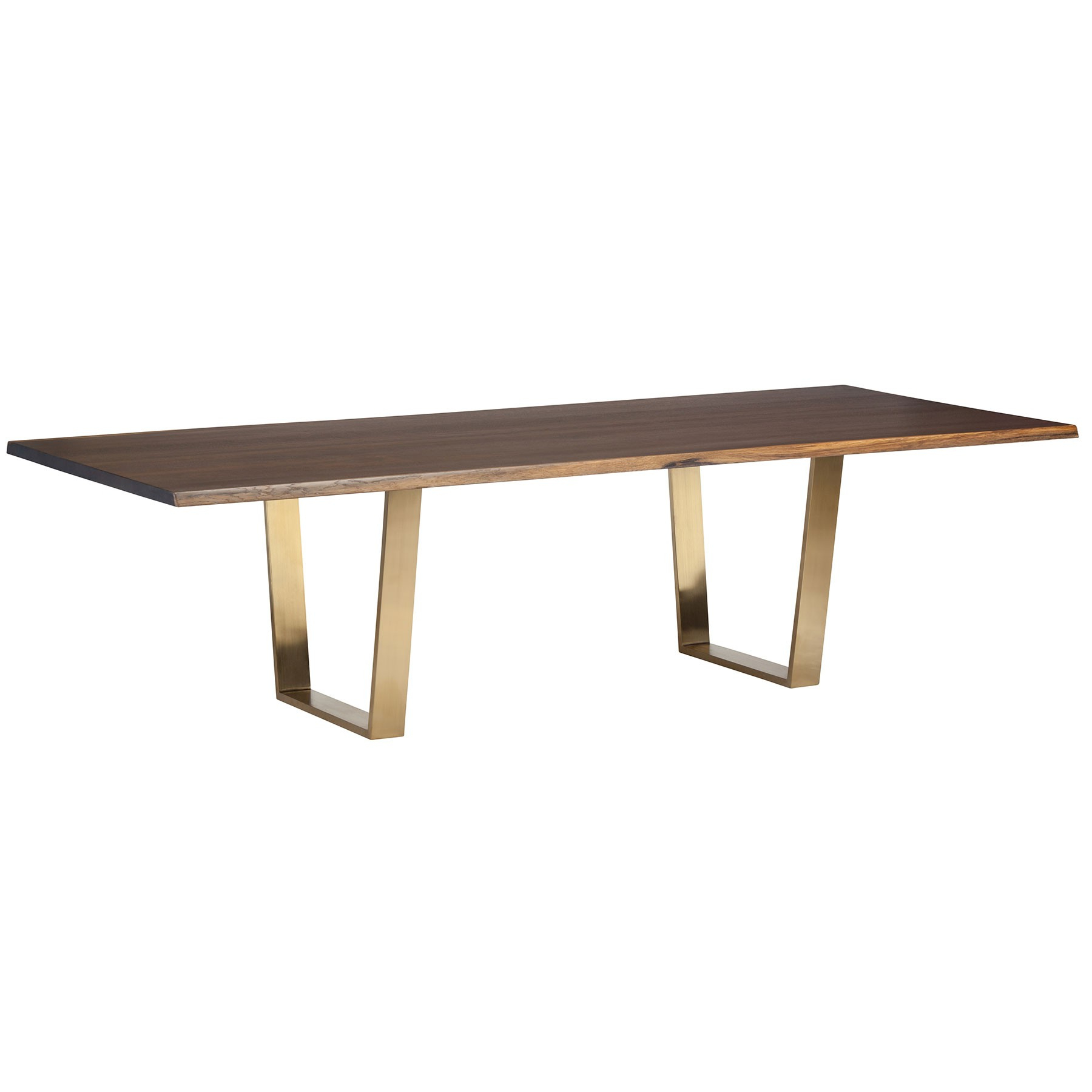 Best And Newest Dining Tables In Seared Oak With Brass Detail Within Versailles Dining Table – Seared Oak / Gold (View 8 of 30)