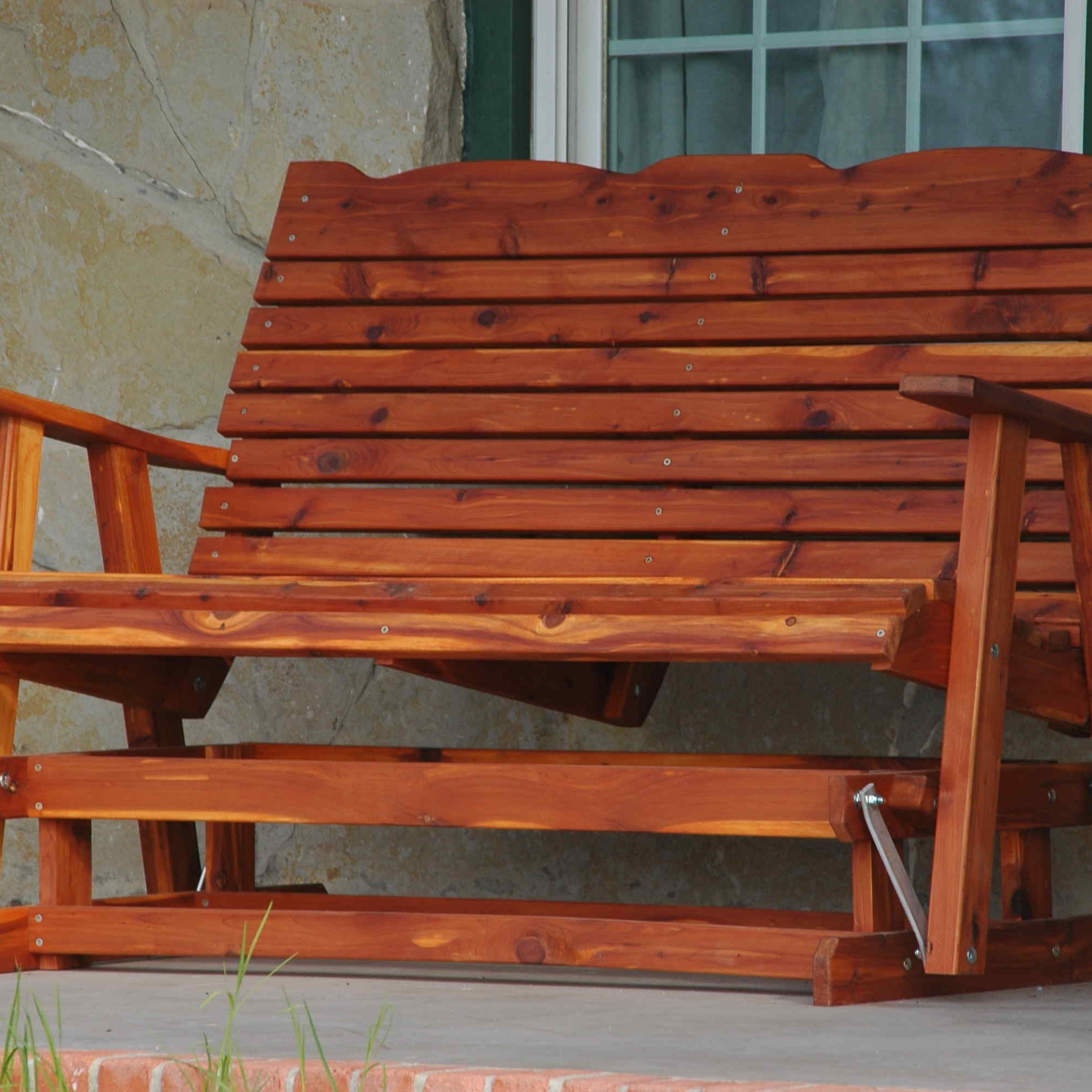 Best And Newest Glider Benches With Cushion Regarding Patio Glider Bench Swing Cushion Porch Seat Outdoor Garden (View 3 of 30)