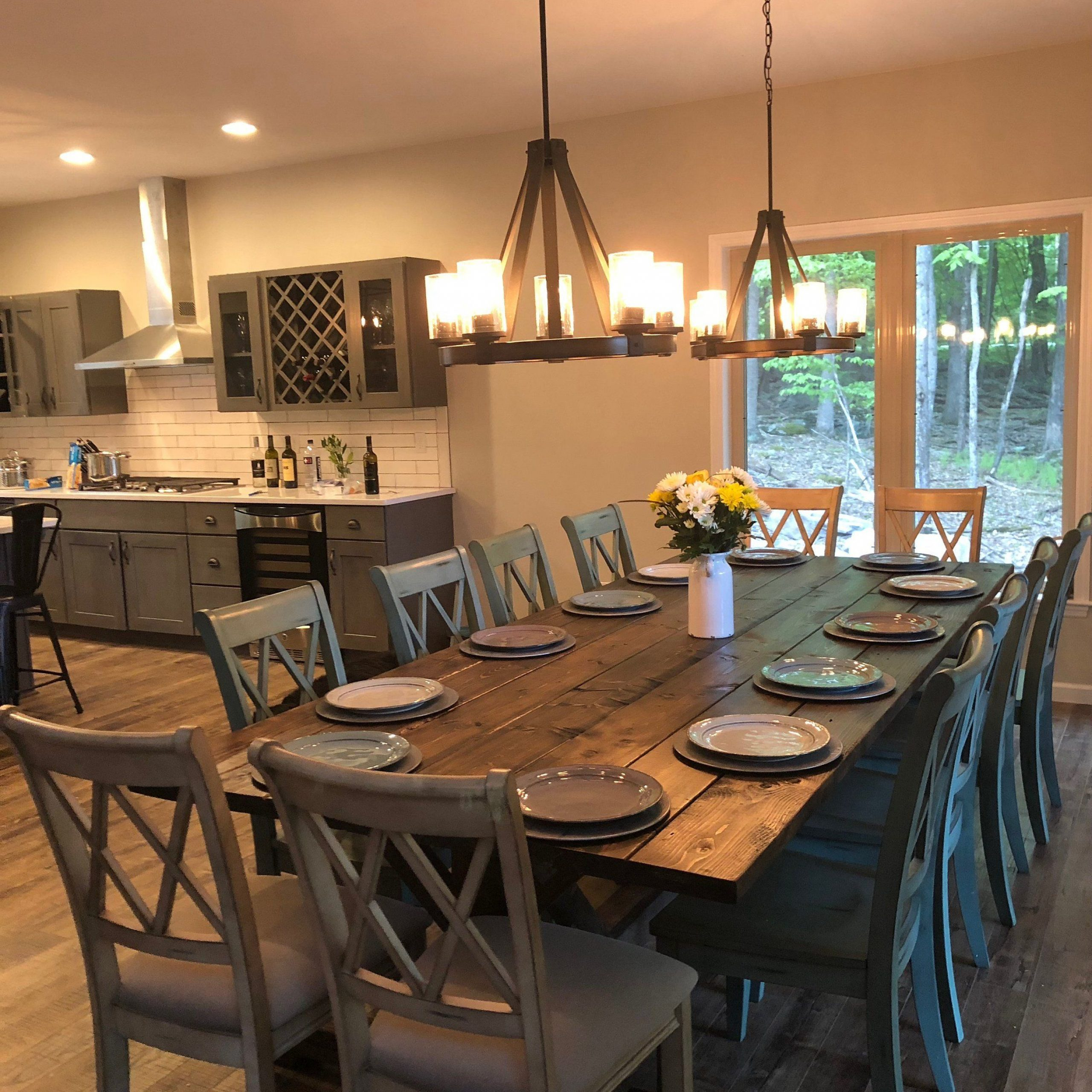 Best And Newest Large Farmhouse Table, Rustic Farm Table, Farmhouse Dining Regarding Large Rustic Look Dining Tables (View 9 of 30)