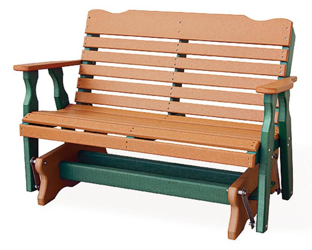 Best And Newest Low Back Glider Benches Pertaining To Eagle Beach Outdoor Double Glider – Countryside Amish (Gallery 6 of 30)