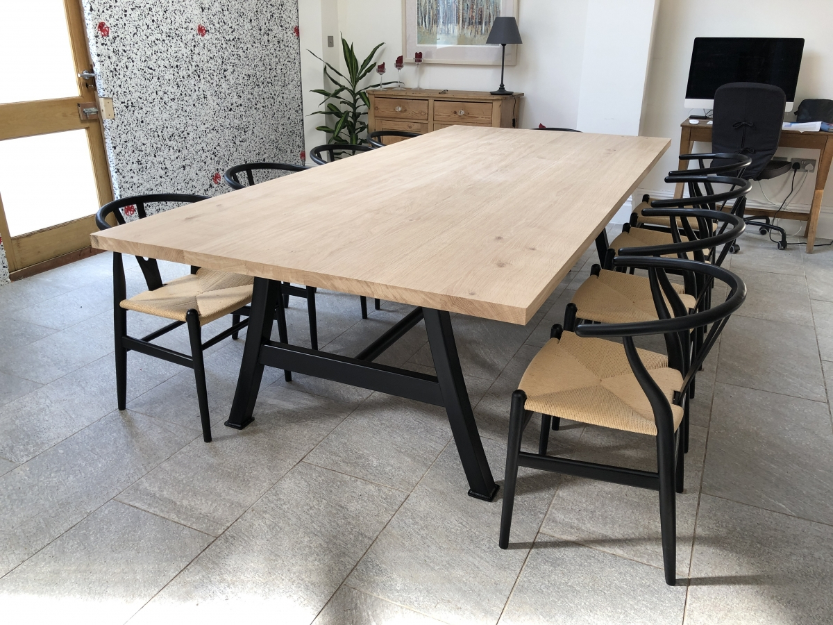 Best And Newest Metal And Wood Dining Table With Bench Fantasy Tables Pertaining To Iron Wood Dining Tables With Metal Legs (Gallery 9 of 30)