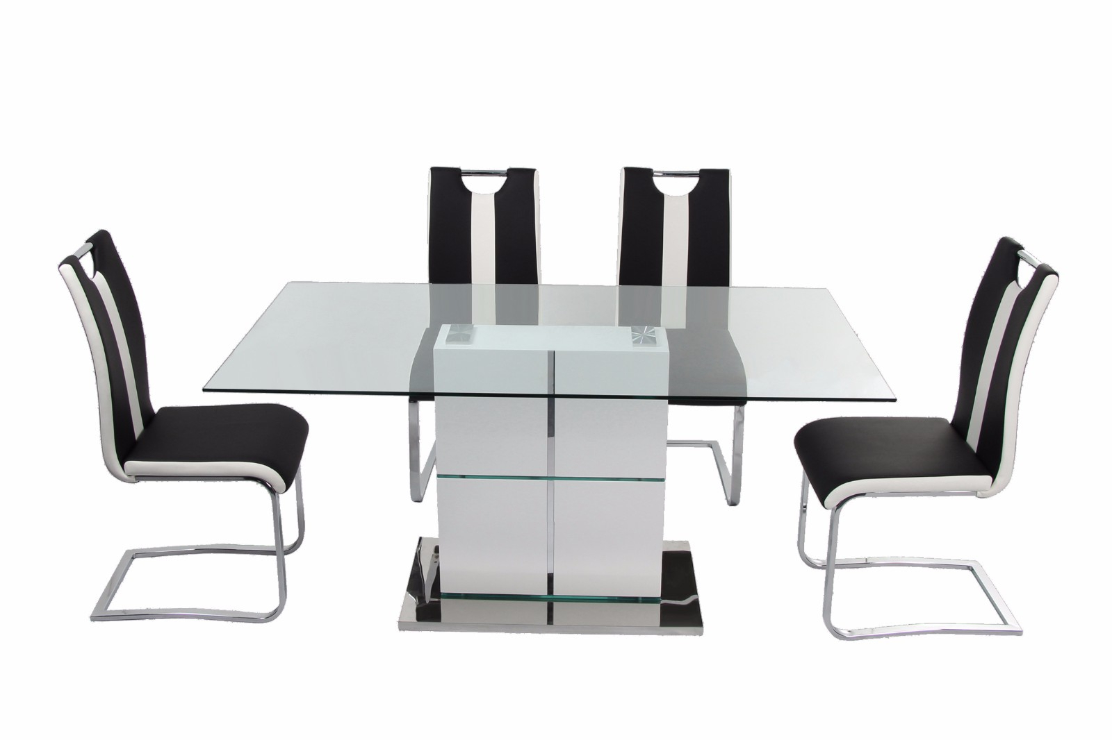 Best And Newest Modern Glass Top Extension Dining Tables In Stainless With Regard To Customized Contemportary Dining Table Top In10Mm Clear (Gallery 30 of 30)