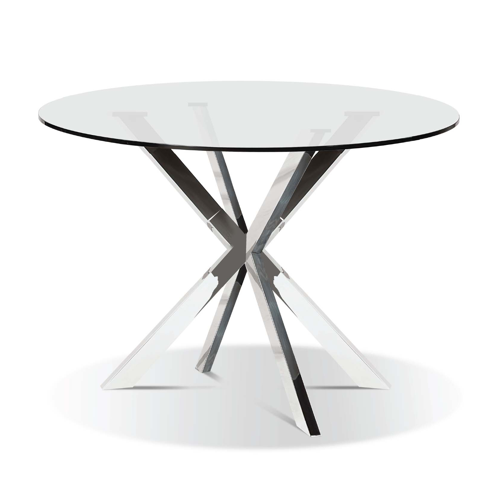 Best And Newest Modern Round Glasstop Dining Table Intended For Glass Top Condo Dining Tables (View 4 of 30)