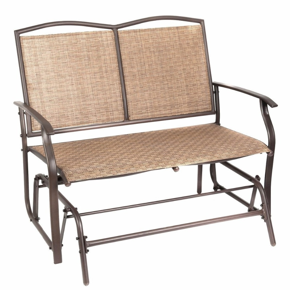 Best And Newest Naturefun Patio Swing Glider Bench Chair Garden Glider Intended For Outdoor Patio Swing Glider Bench Chair S (View 3 of 30)
