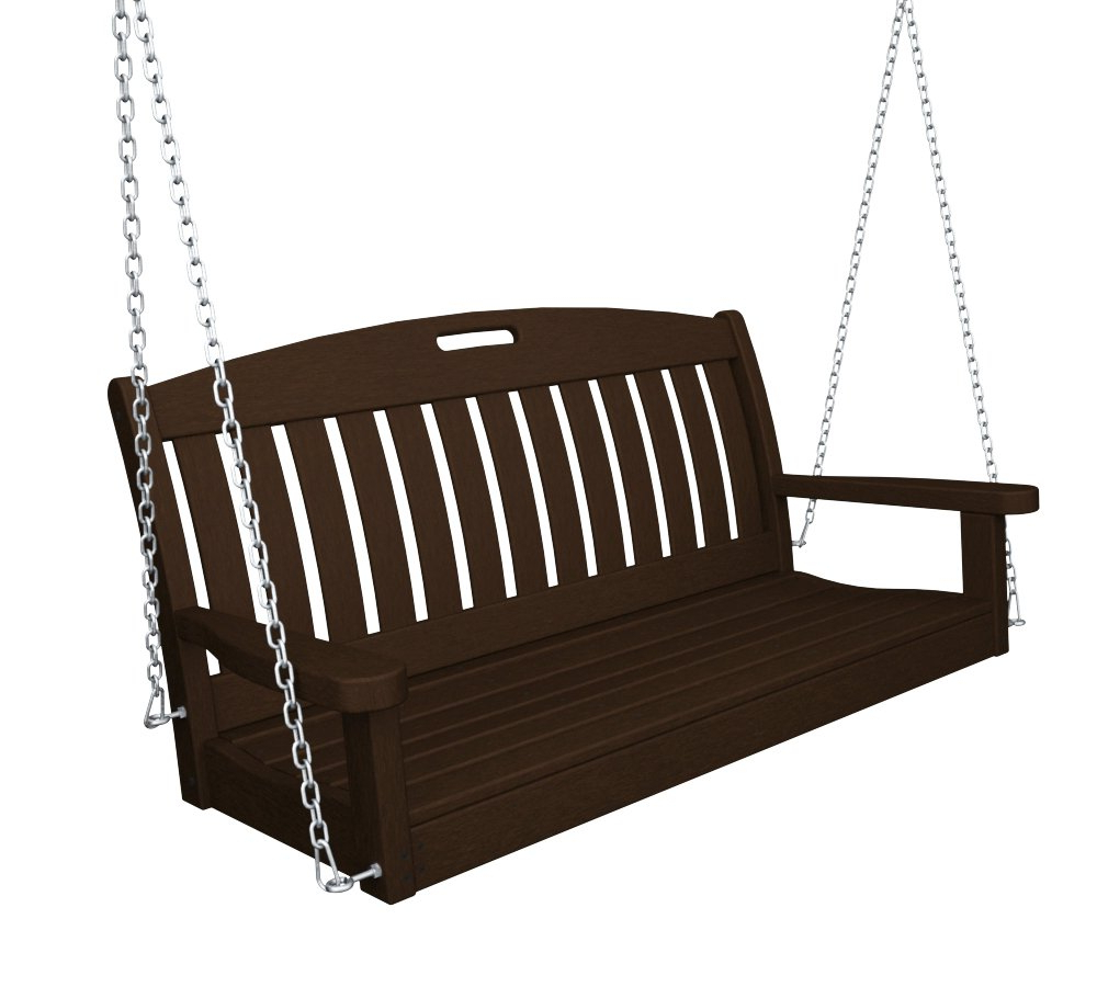 "Best And Newest Nautical Porch Swings Regarding Polywood Ns48Ma Nautical 48"" Swing (View 4 of 30)"