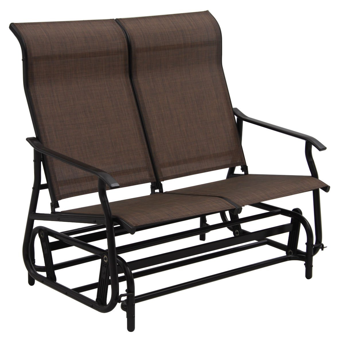 Best And Newest Sling Double Glider Benches Throughout Amazon : Lunanice 2 Person Patio Glider Rocking Bench (Gallery 22 of 30)