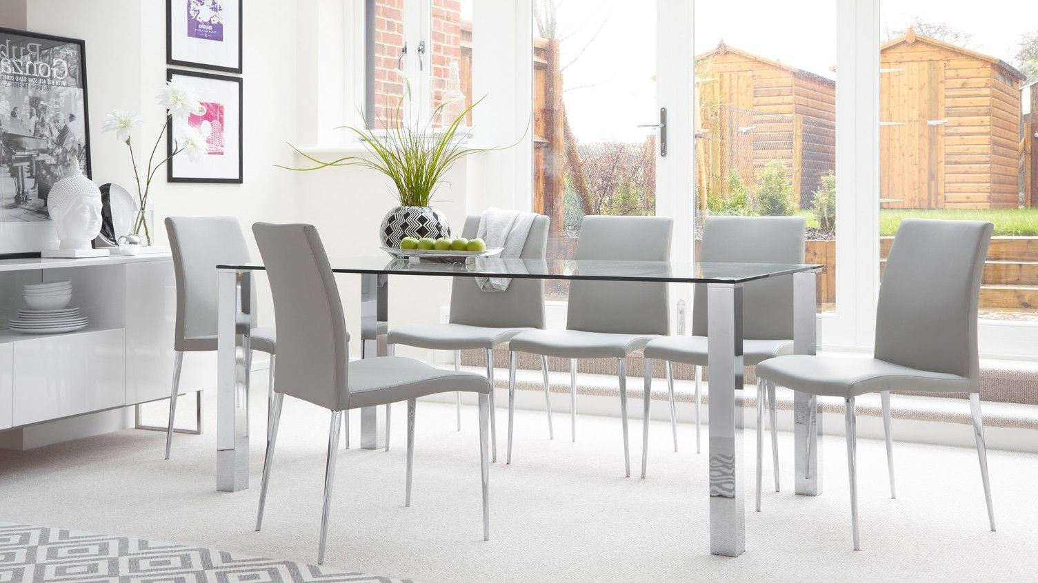 Best And Newest Tiva Glass And Elise Large Dining Set (View 7 of 30)