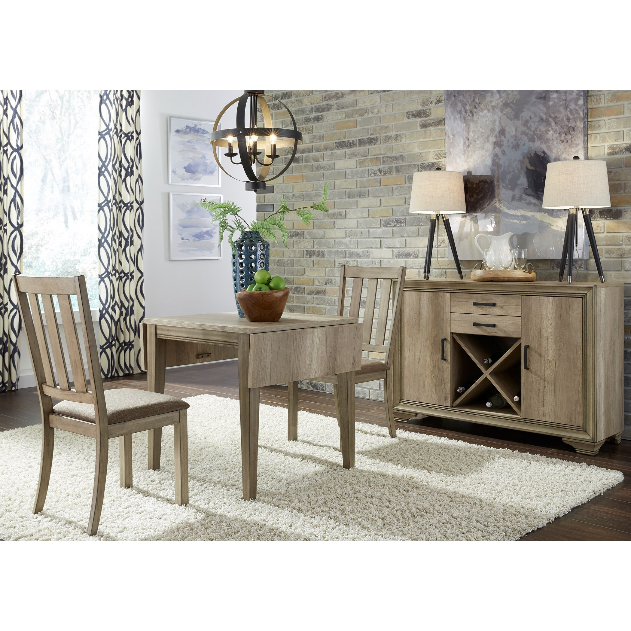 Best And Newest Transitional 4 Seating Double Drop Leaf Casual Dining Tables With Regard To Liberty Furniture Sun Valley 439 Dr 3dls 3 Piece Drop Leaf (View 16 of 30)