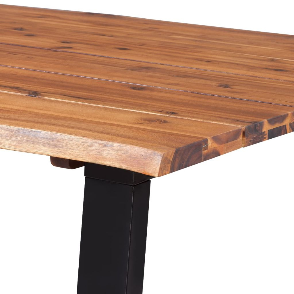 Best And Newest Unique Acacia Wood Dining Tables Regarding Vidaxl Dining Table Solid Acacia Wood 180x90 Cm (View 15 of 30)
