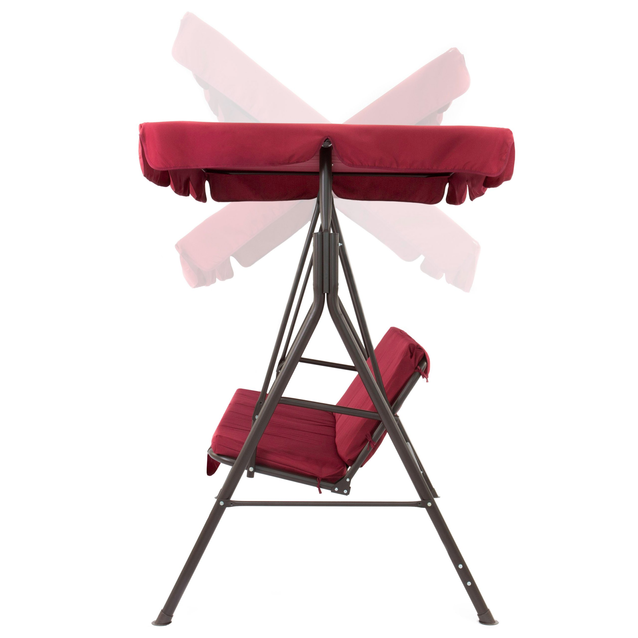 Best Choice Products 2 Person Outdoor Large Convertible Pertaining To Latest 2 Person Outdoor Convertible Canopy Swing Gliders With Removable Cushions Beige (View 22 of 30)