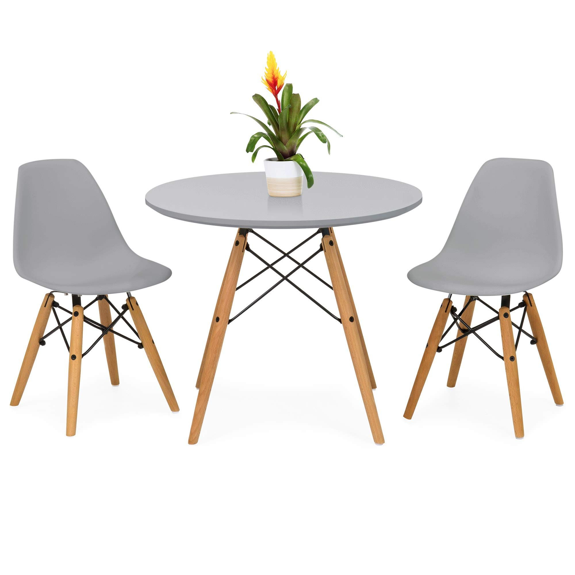 Best Choice Products Kids Mid Century Modern Eames Style Intended For Current Eames Style Dining Tables With Wooden Legs (View 2 of 30)