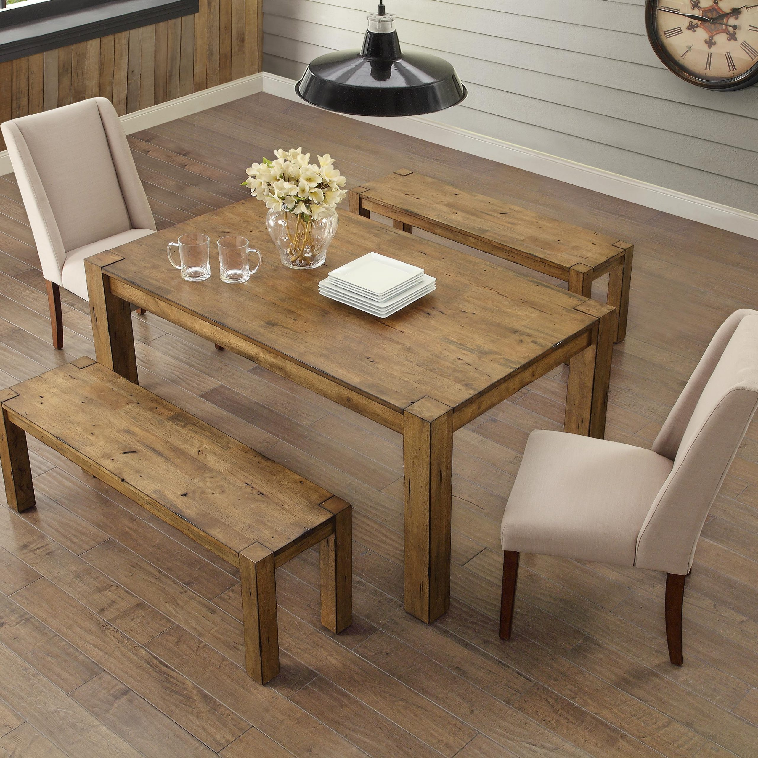 Better Homes & Gardens Bryant Dining Table, Rustic – Walmart For Popular Small Dining Tables With Rustic Pine Ash Brown Finish (Gallery 12 of 30)