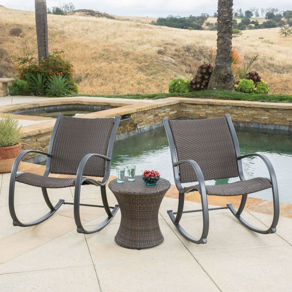 Bistro Set, Patio Throughout Speckled Glider Benches (View 26 of 30)