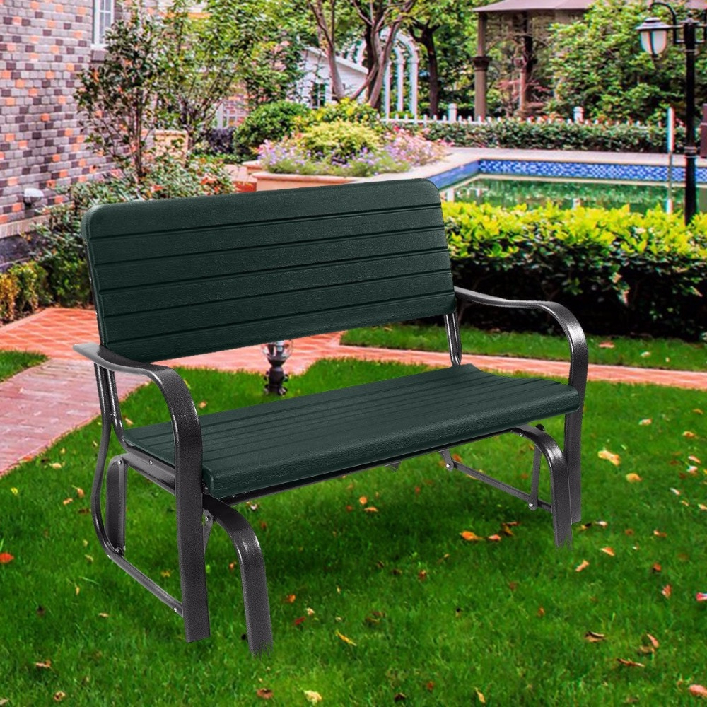 Black Steel Patio Swing Glider Benches Powder Coated For Famous Hot Price #5935 – Outdoor Patio Swing Porch Rocker Glider (View 4 of 30)