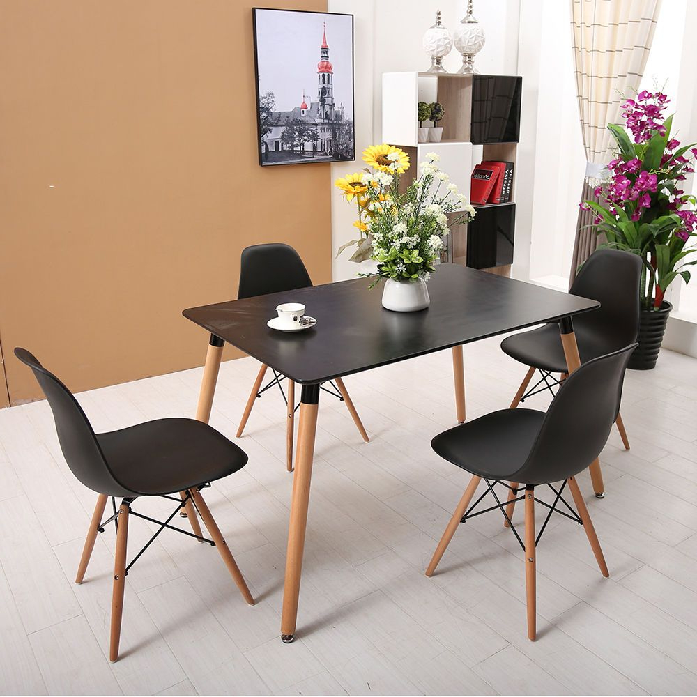 Brand New Dining Chair X 4 And Table Set Black (Gallery 24 of 30)