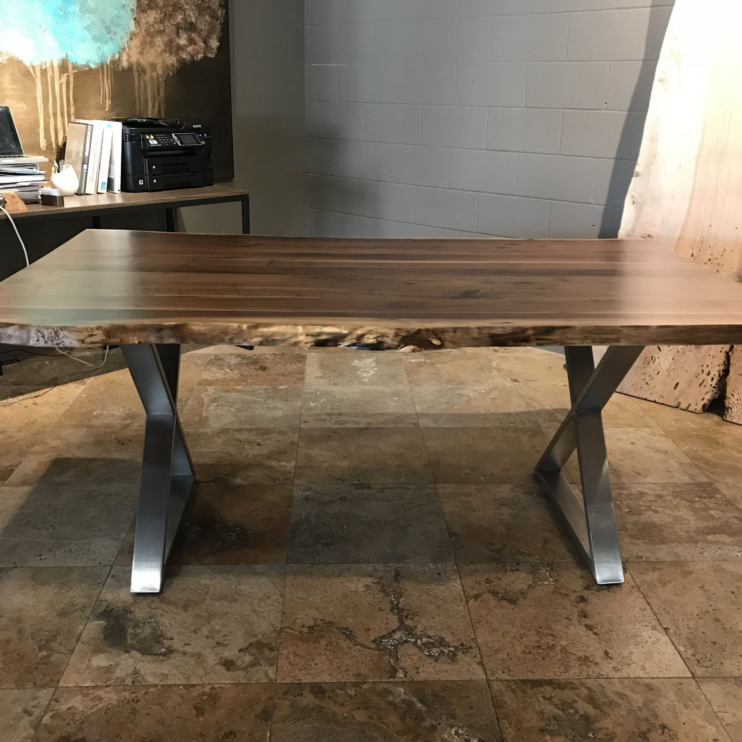 Buy A Custom Live Edge Dining Table, Made To Order From With Latest Walnut Finish Live Edge Wood Contemporary Dining Tables (View 3 of 30)