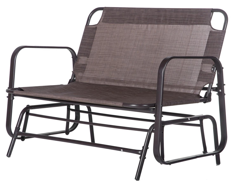 Buy Merax Patio Loveseat Glider Rocking Chair Garden Outdoor With Recent Loveseat Glider Benches (Gallery 18 of 30)