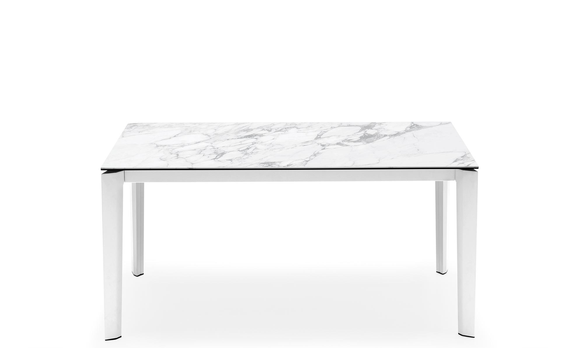 Calligaris Delta – Cs/4097 Mv Ext Dining Table White Marble Ceramic Inside Famous Dining Tables With White Marble Top (View 11 of 30)