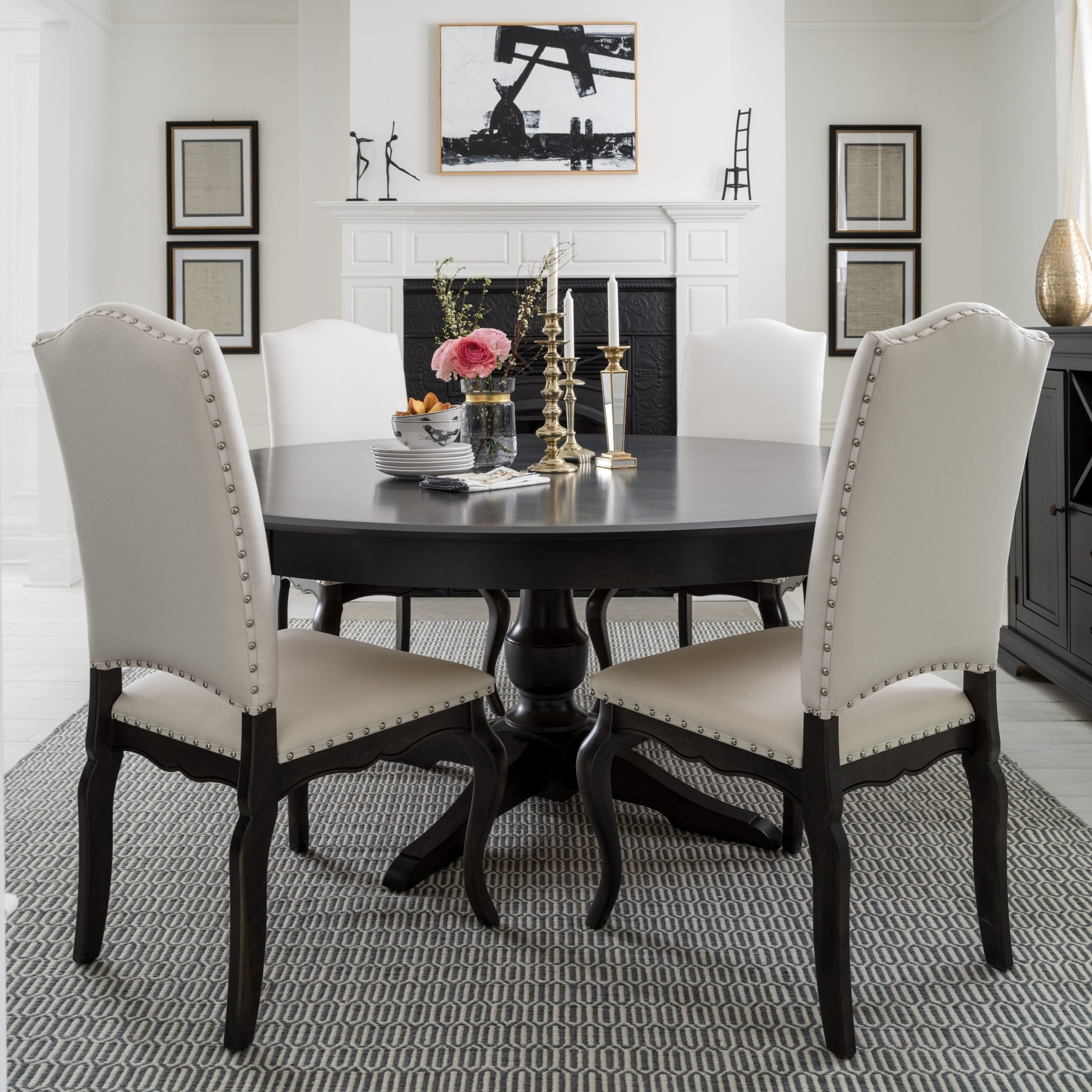 Canadel Custom Dining Customizable Round Table With Single In Most Popular Transitional 4 Seating Drop Leaf Casual Dining Tables (View 18 of 30)