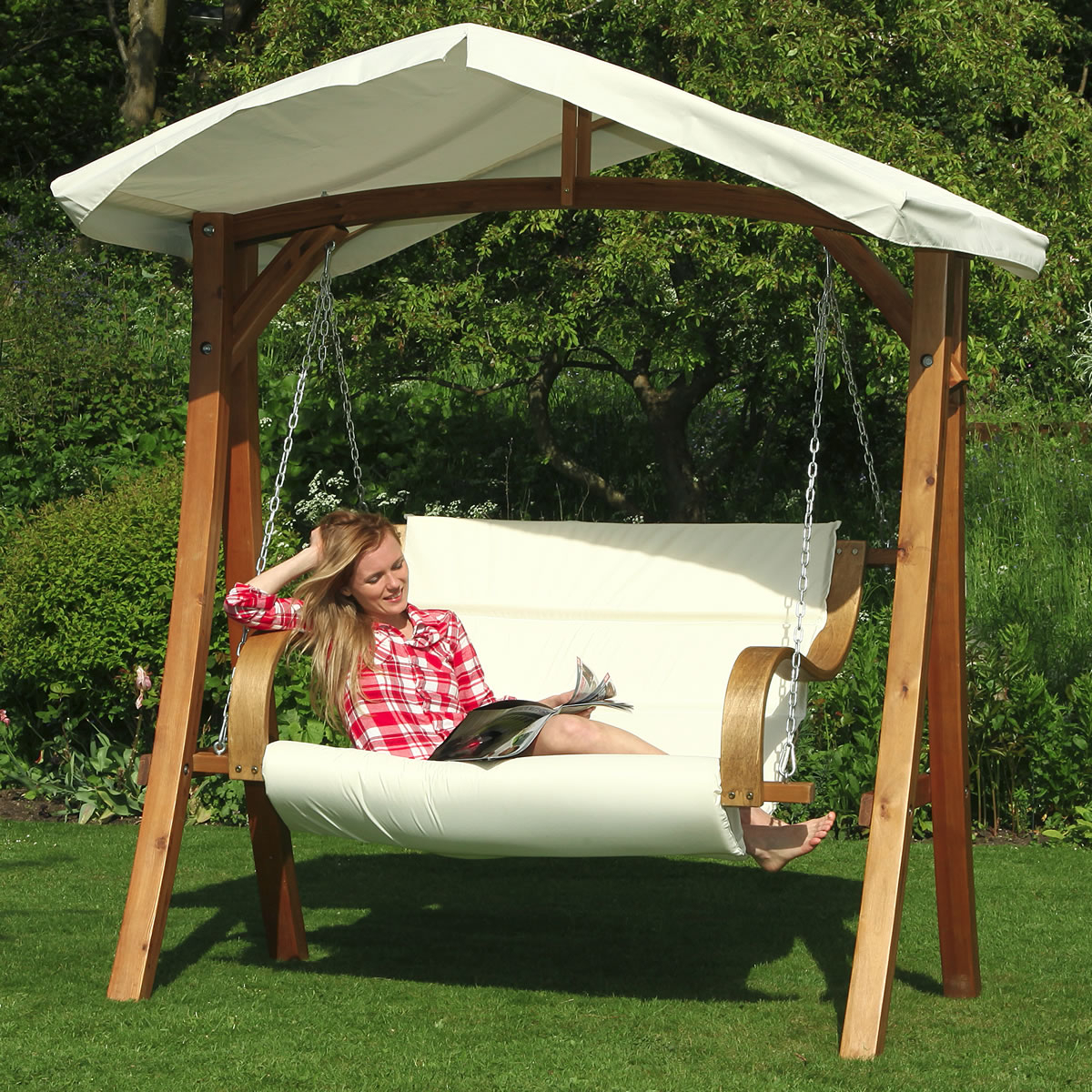 Canopy: Garden Swing Canopy With Regard To 2019 Garden Leisure Outdoor Hammock Patio Canopy Rocking Chairs (View 30 of 30)